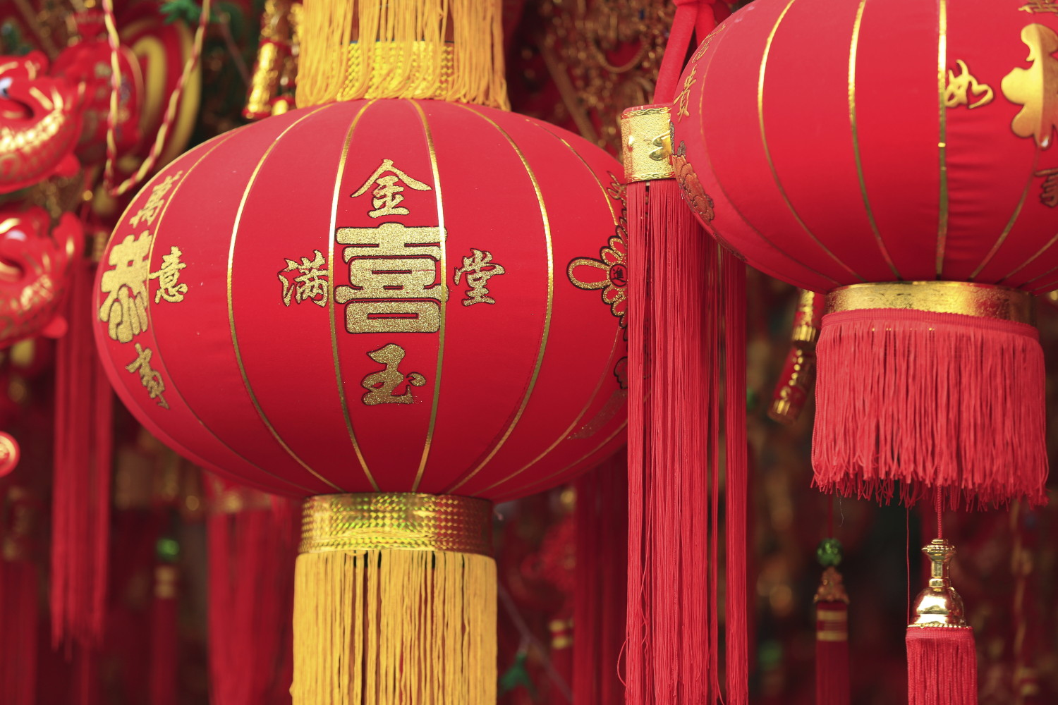 Chinese Red Lanterns For Fortunehappiness And Good Luck Insights