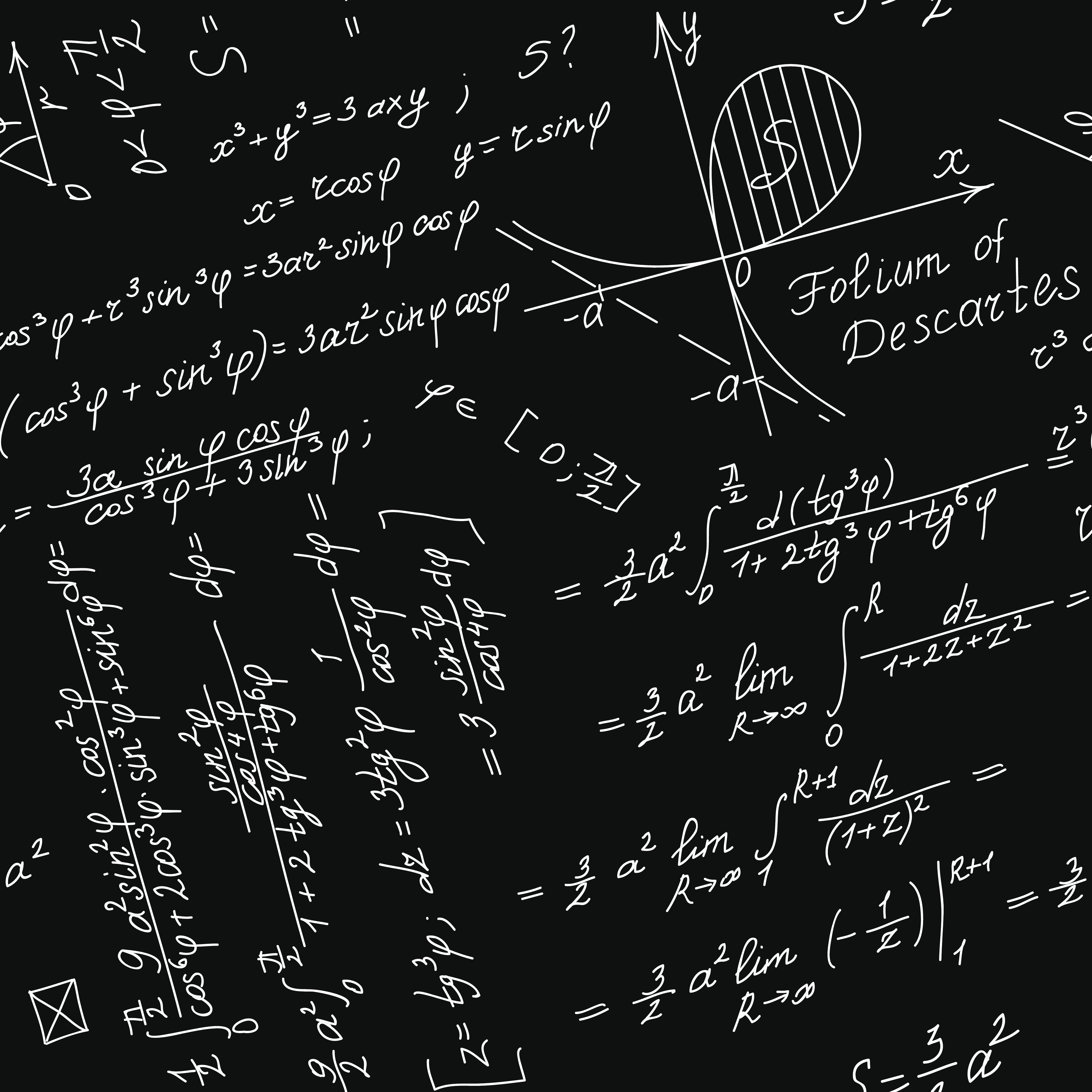 Vector Seamless Background With Mathematical Symbols Insights
