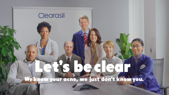 Clearasil lets be clear