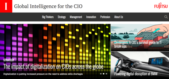 fujitsu cio global intelligence for the CIO
